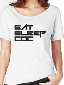 eat, sleep, coc (clash of clans) typography - foughtknight Women's Relaxed Fit T-Shirt