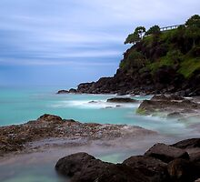 Coolangatta Misty Snapper Rocks  by o8ert