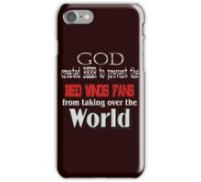 God, Beer & the Red Wings for Dark Backgrounds iPhone Case/Skin