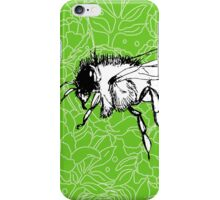 Flying Bee on Peony Pattern-Apple Green iPhone Case/Skin