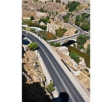 Roads and bridge over Tagus river in Toledo, Spain Photographic Print