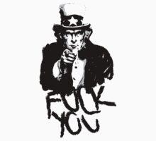 Uncle Sam Black & grey by Karl Whitney