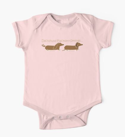 Dachshund Factory Settings One Piece - Short Sleeve