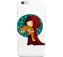 Little Red Riding in The Rain iPhone Case/Skin