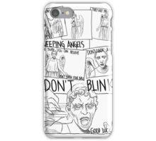 Weeping Angel Comic iPhone Case/Skin