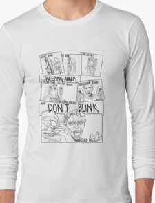 Weeping Angel Comic Long Sleeve T-Shirt
