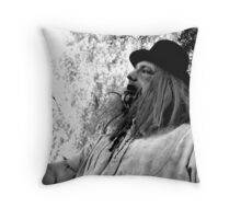 UZA Ray Digger Black and White  Throw Pillow