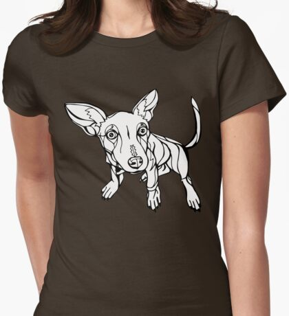 Sharpie Dogs: Gus the Chihuahua Womens Fitted T-Shirt