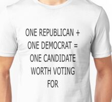 Math of our 2 party system Unisex T-Shirt