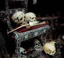 Skulls and Bones on the Throne by Kayleigh Walmsley