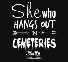 She Who Hangs Out in Cemeteries (White) by AliceCorsairs