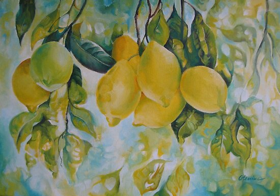 Golden fruit by Elena Oleniuc