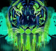 Psychedelic Tiger Sticker