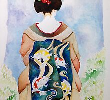 Leaping Koi Maiko by Madonna Wozny
