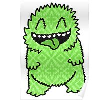 Fuzzy Green Monster Poster