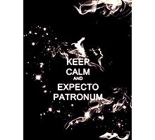 Keep Calm and Expecto Patronum - Glowing Stag Photographic Print