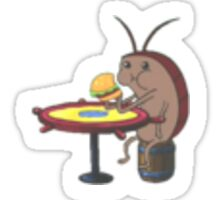 Spongebob Cockroach Eating A Krabby Patty Sticker