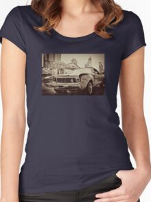 Vintage Oldsmobile 1970 Women's Fitted Scoop T-Shirt