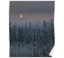 Late Noon Moon - Alaska  Poster