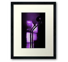 freakin in a purple haze... with a snake lamp Framed Print