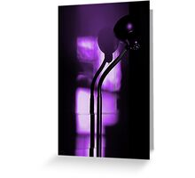 freakin in a purple haze... with a snake lamp Greeting Card