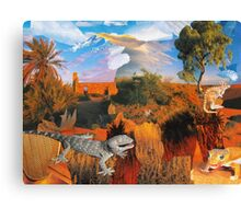 Lizards Lounging Canvas Print