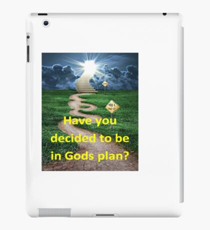 Gods plan iPad Case/Skin