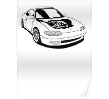 Mazda MX-6 (No Model Name) Poster