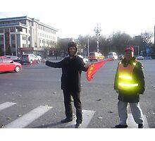 traffic cop beijing  Photographic Print