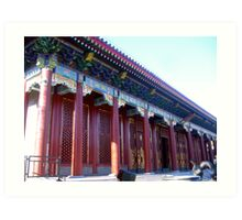 typical chinese palace Art Print