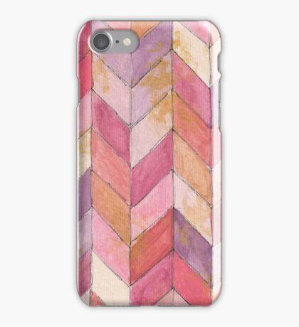 herringbone watercolor iPhone Case/Skin