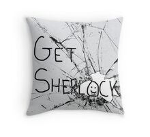 Get Sherl:)ck Throw Pillow