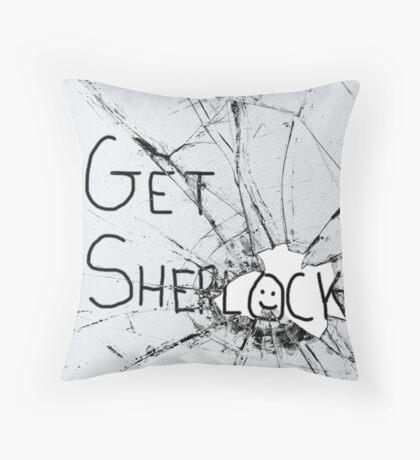 Get Sherl:)ck Throw Pillow