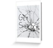 Get Sherl:)ck Greeting Card