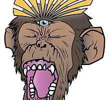 Enlightened Chimp by austronaut