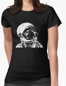 Astronaut Dog Cool Womens Fitted T-Shirt