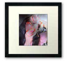 Rainbow Blowing Feathers DeerBone Me Framed Print
