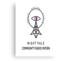 Welcome To Night Vale Intern Canvas Print