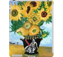 Sunflowers in Darth Vader Vase iPad Case/Skin