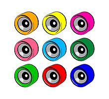 Roller Skate Wheel Pattern by LudlumDesign
