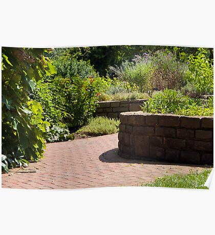 Curved Brick Walk Poster