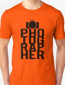 Camera Photographer Unisex T-Shirt