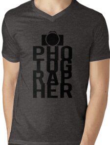 Camera Photographer Mens V-Neck T-Shirt