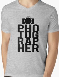 Camera Photographer Mens V-Neck T-Shirt
