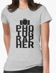 Camera Photographer Womens Fitted T-Shirt