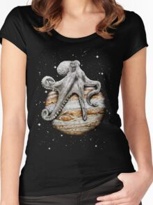 Celestial Cephalopod Women's Fitted Scoop T-Shirt