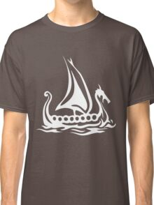 Cartoon Fishing Sailing Boat Classic T-Shirt
