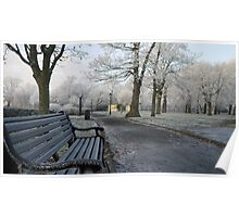 Frosted Bench Poster