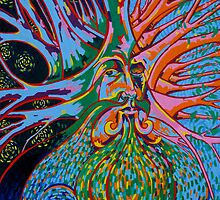 The Green Man - Self portait by Gary McNulty