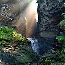 Hopeful Rays Bless Minnehaha Falls by Gene Walls